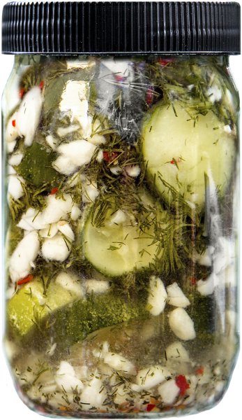 all natural hand packed garlic spicy dill kosher pickles