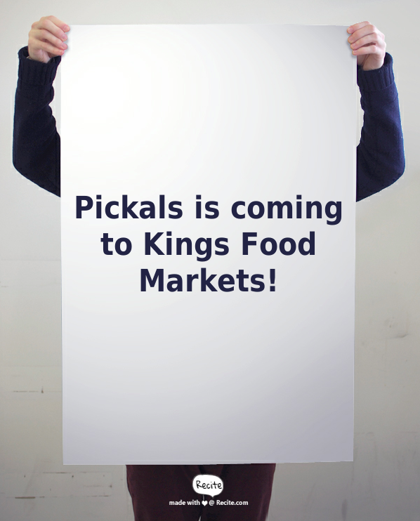all natural fresh garlic pickles Kings Food Markets