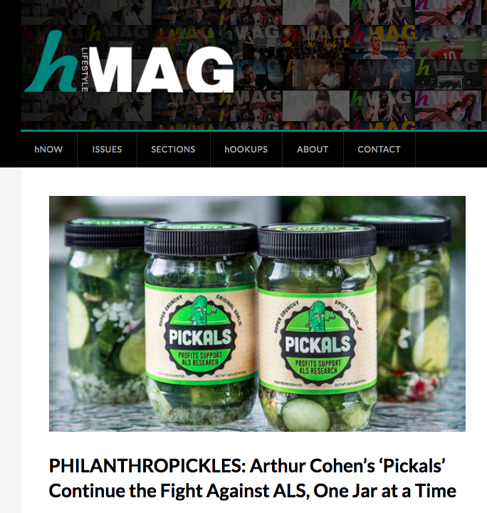 Pickals featured in Hmag for Pickle day