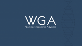 WGA logo on blue background